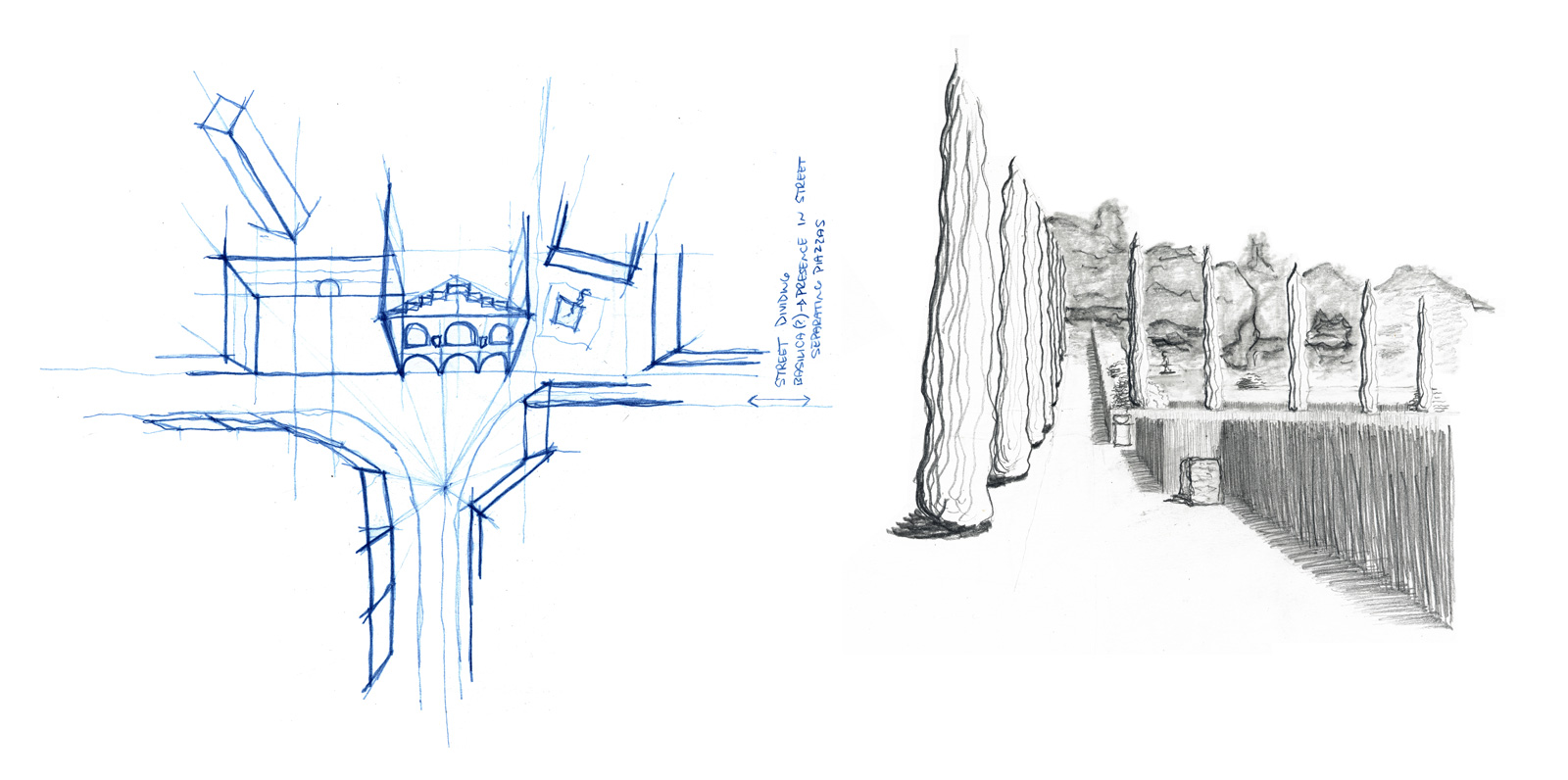 City mapping (left) and Garden Giusti (right), both in Verona