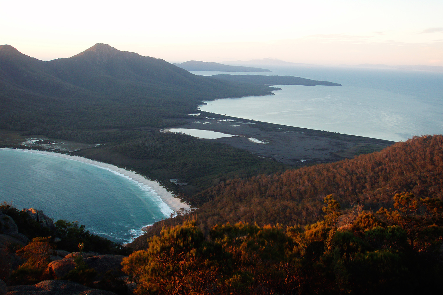 View of Wine Glass Bay from Mount Amos