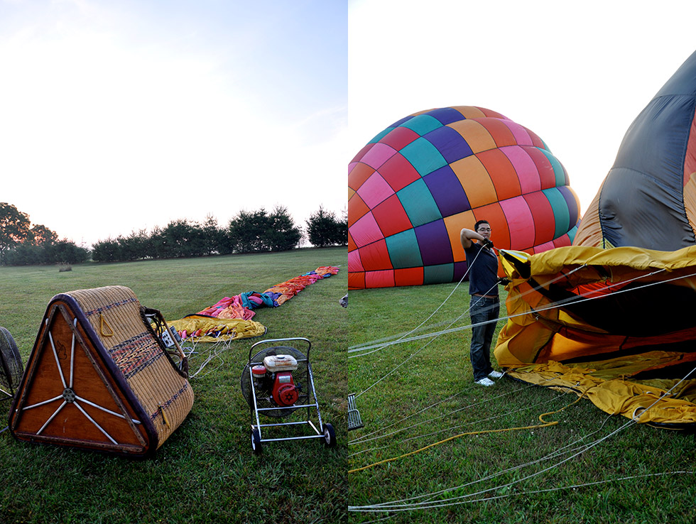 Our balloon being inflated