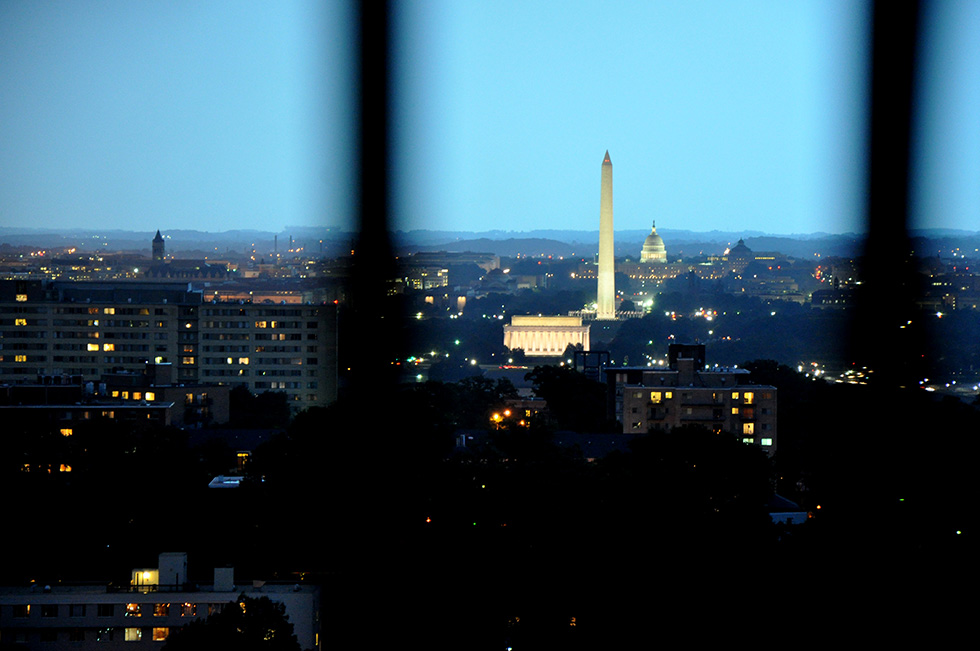Washington DC view from Arlington, Virginia