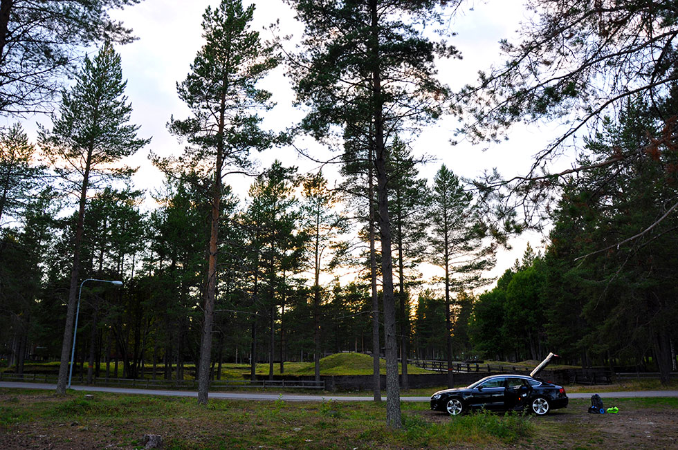 Glamping outside of Luleå