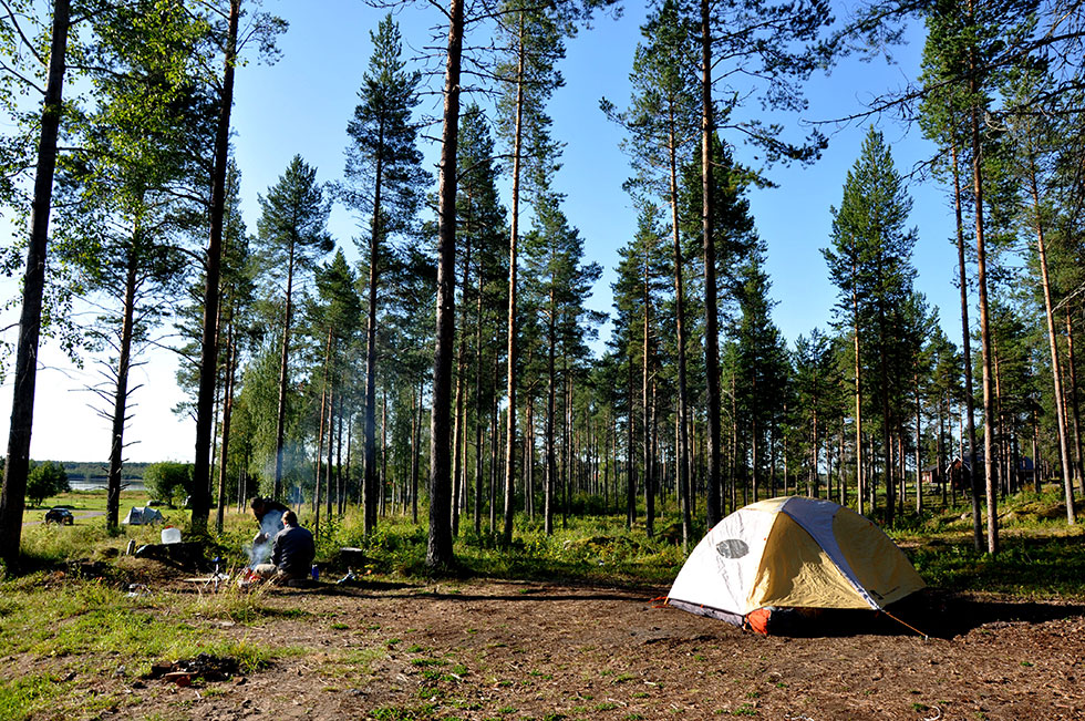 Camping outside of Luleå
