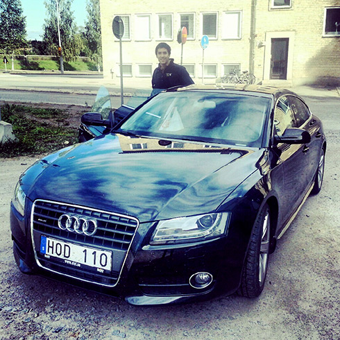 Ben with the Audi
