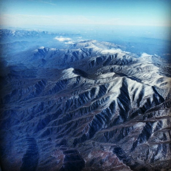 Flying over the Smoky Mountains
