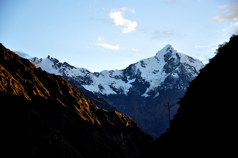 Sunrise view on the second morning of the Inca Trail