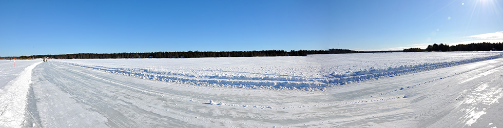 Nydala Lake winter panorama