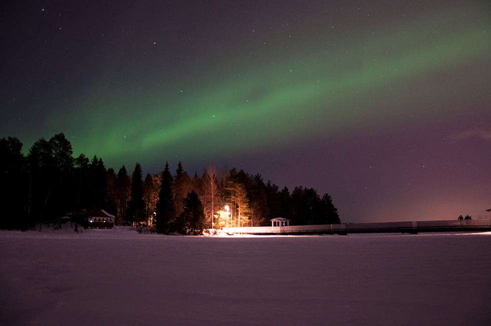 Aurora Borealis at Nydala Lake Umeå