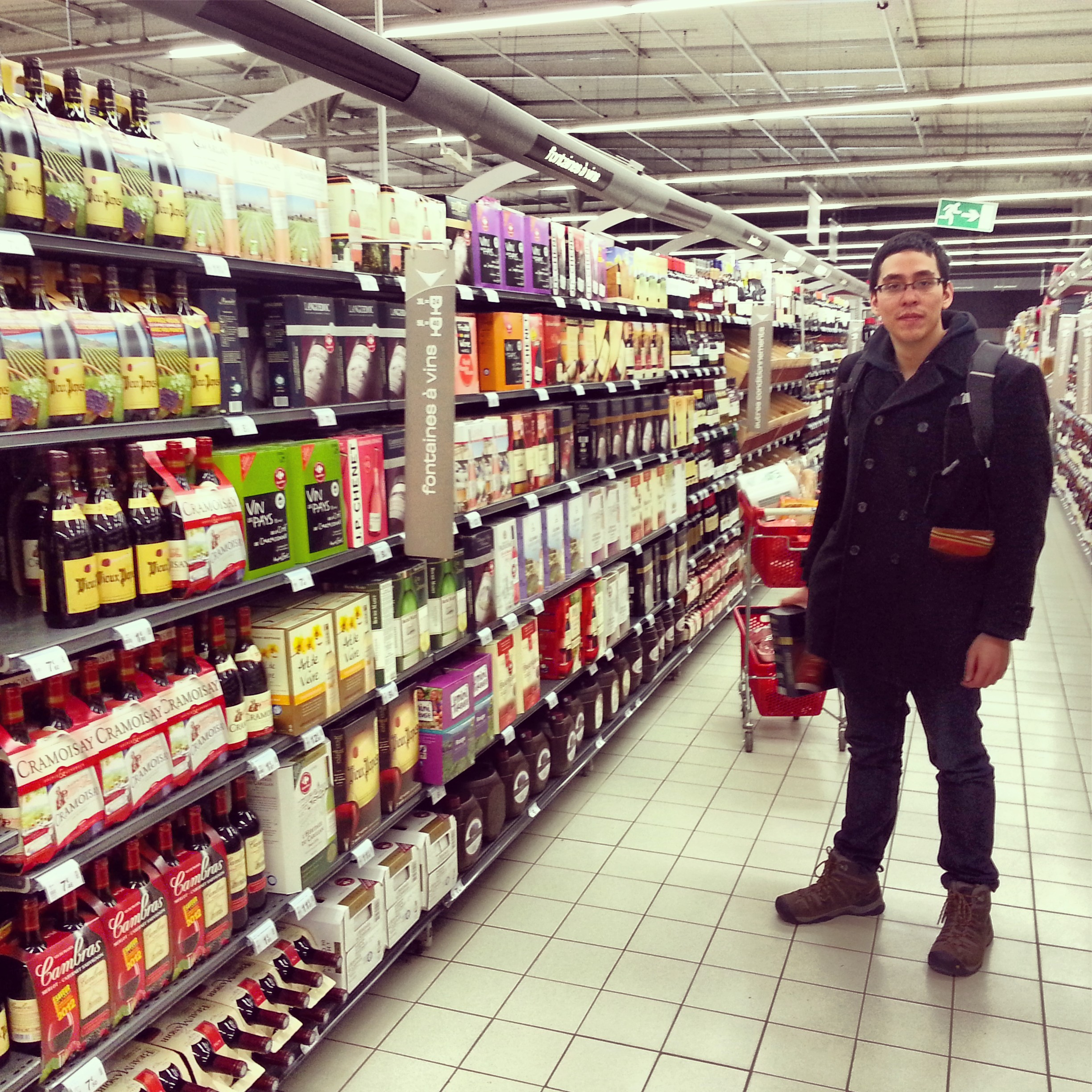 Grocery shopping, Fontainebleau