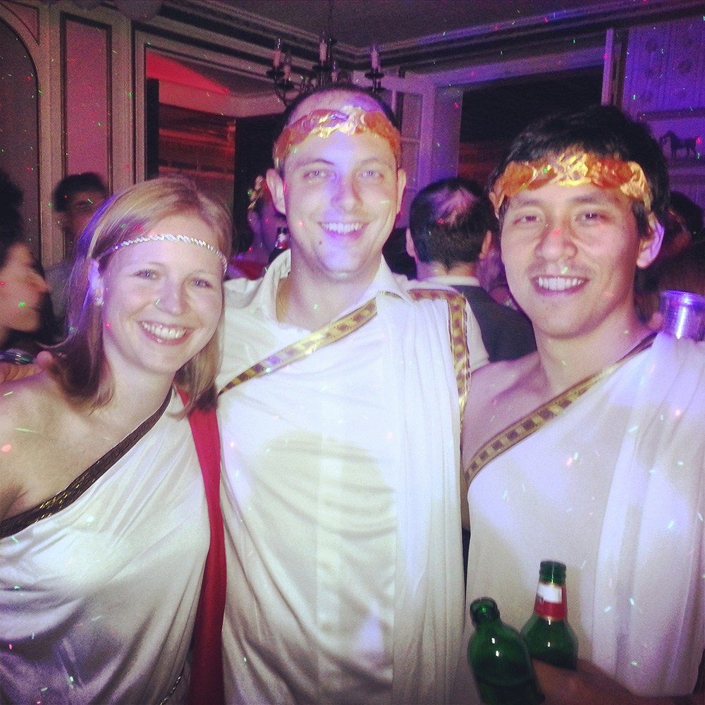 Toga party at French Château