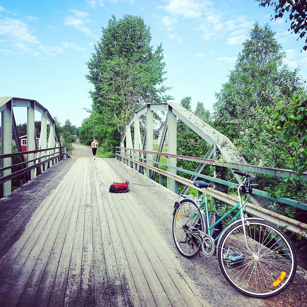 Biking to Holmön Island, Umeå