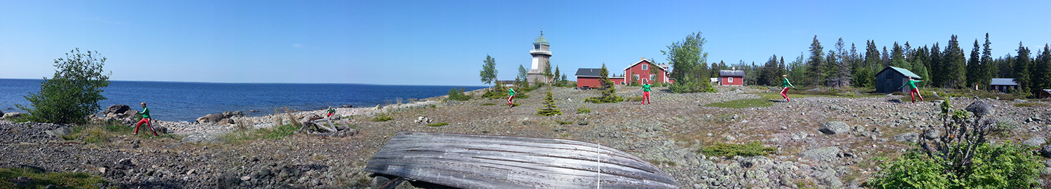 Holmon Island lighthouse panorama