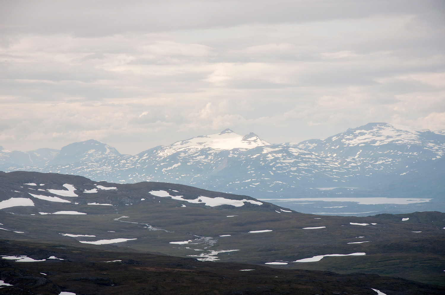 View from Njulla while hiking in Abisko