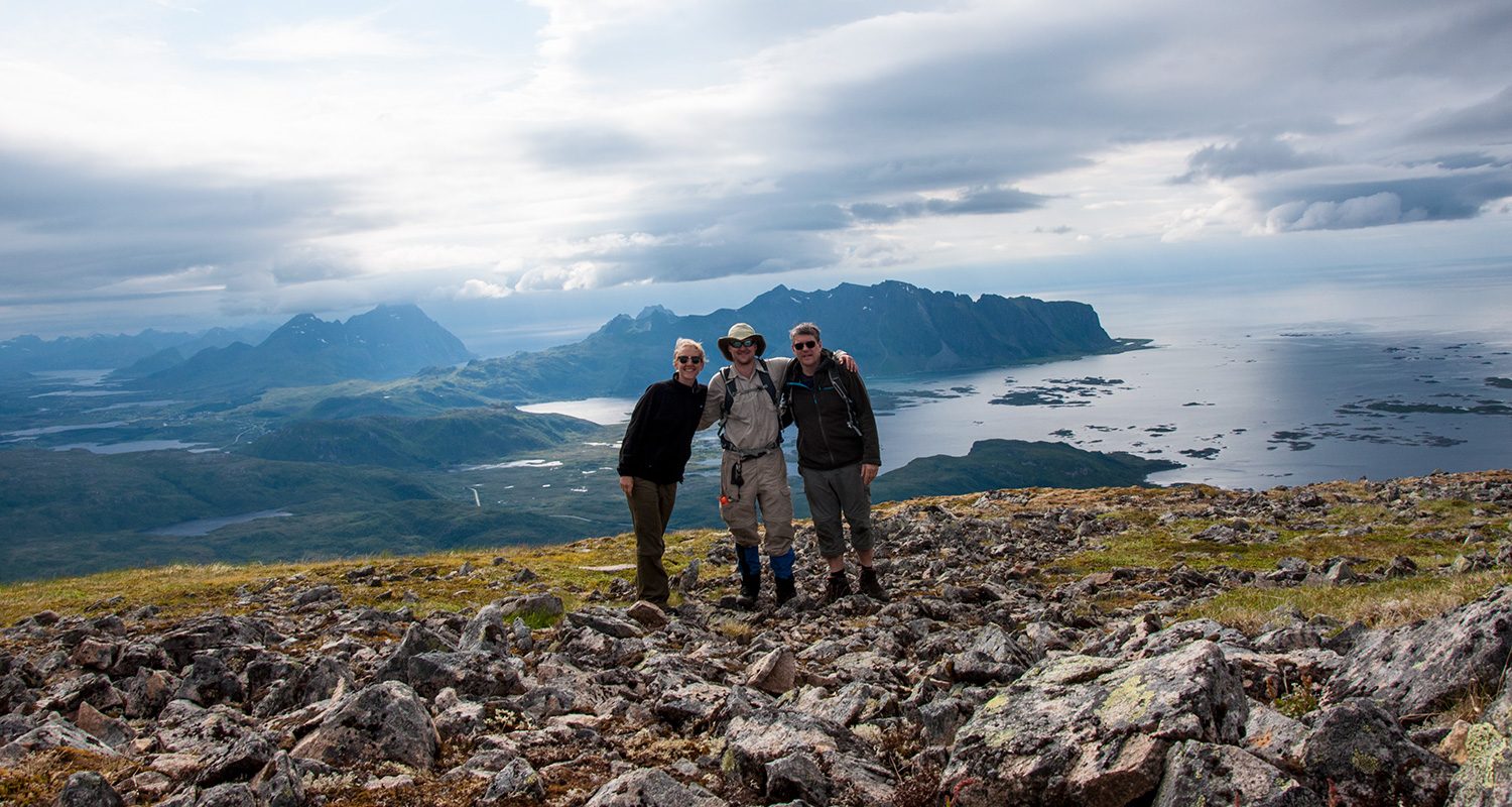 Bob, Martin and I on Haveren in Vestvågøy, Norway ‎