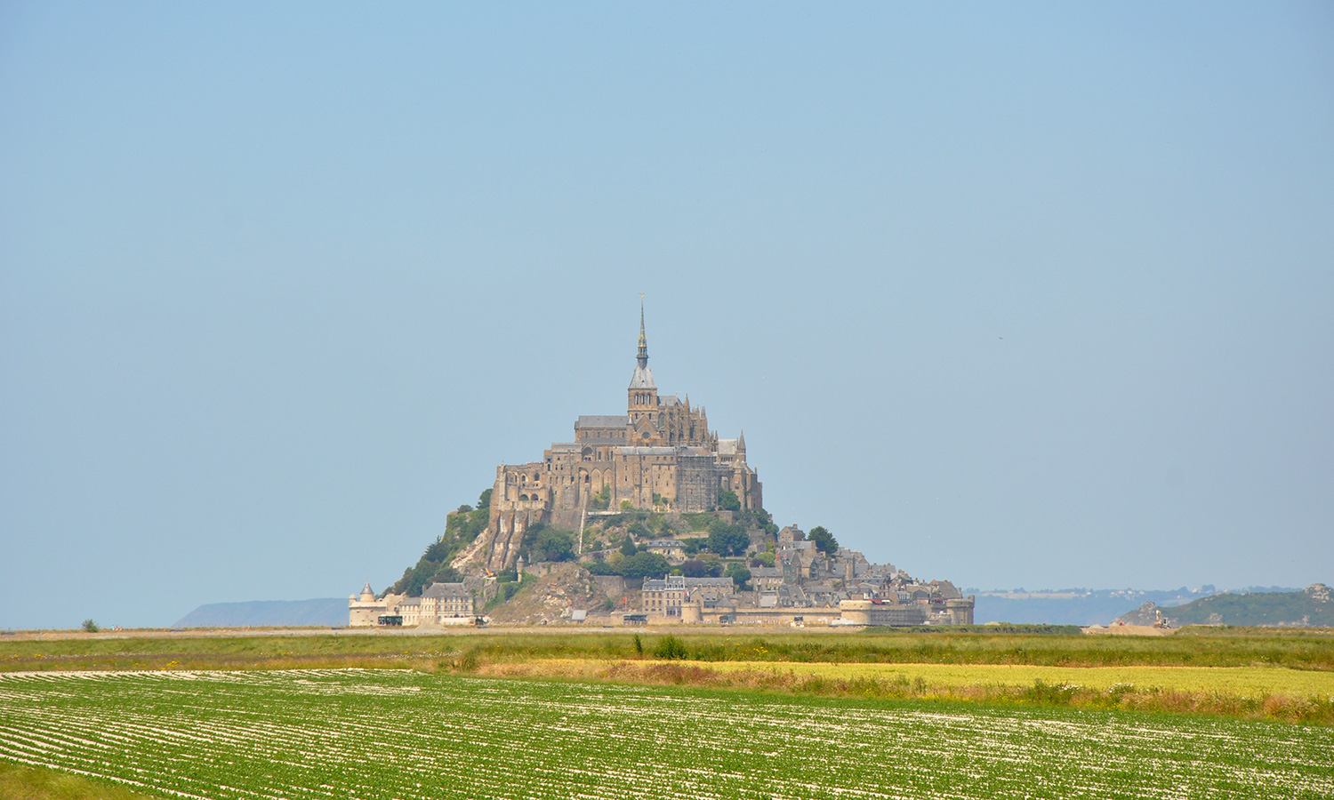 Mont Saint-Michel from mainland