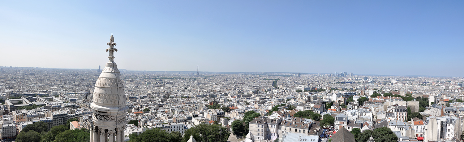View of Paris from the top of the Basilica of the Sacré Coeur
