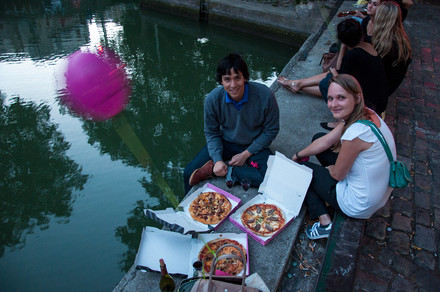 Pink Flamingo Pizza by Canal Saint-Martin