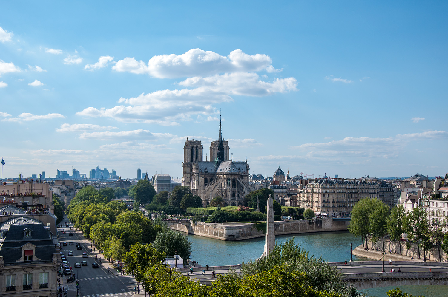 View of Notre-Dame from Arab World Institute