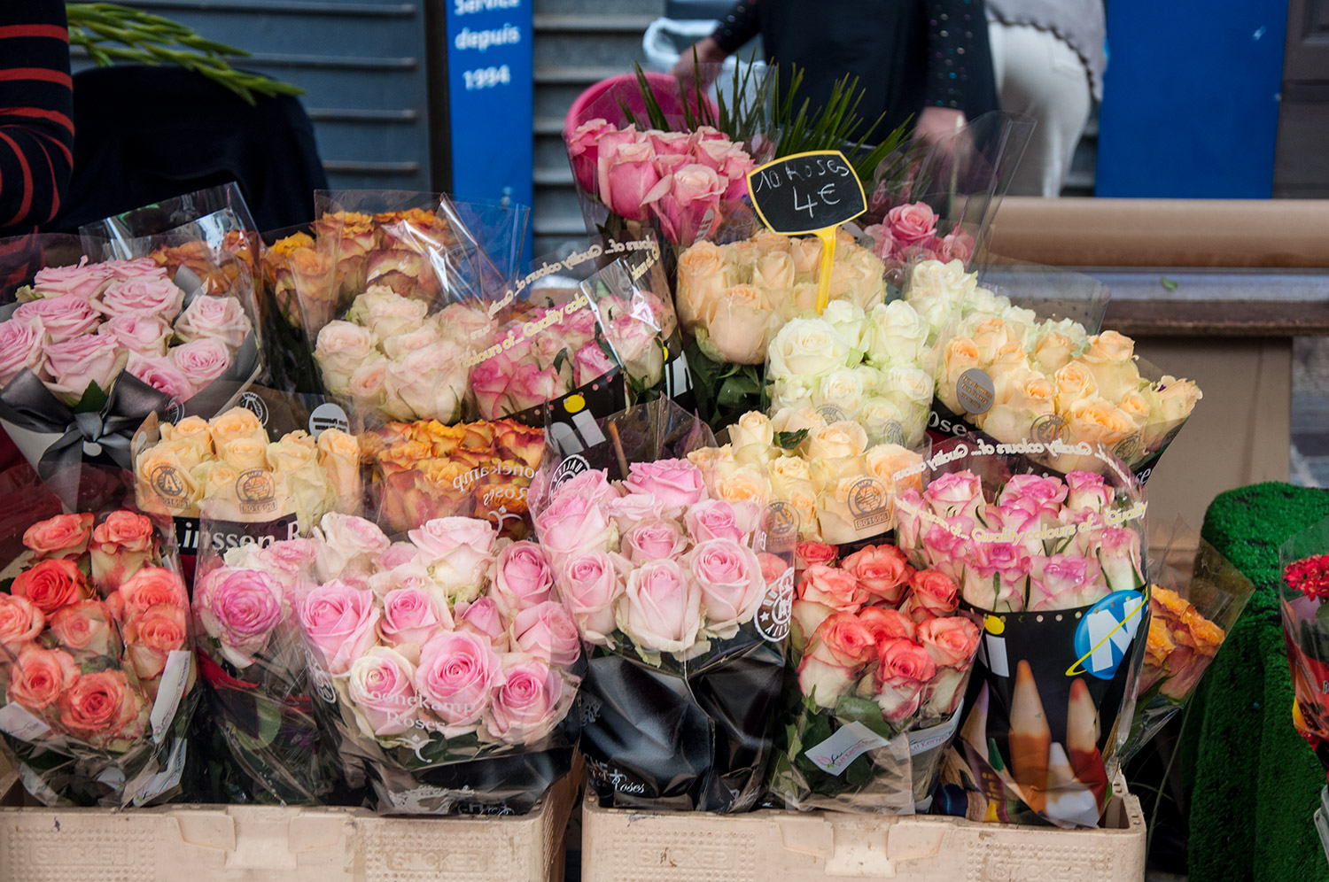 Flowers at Marche d'Aligre