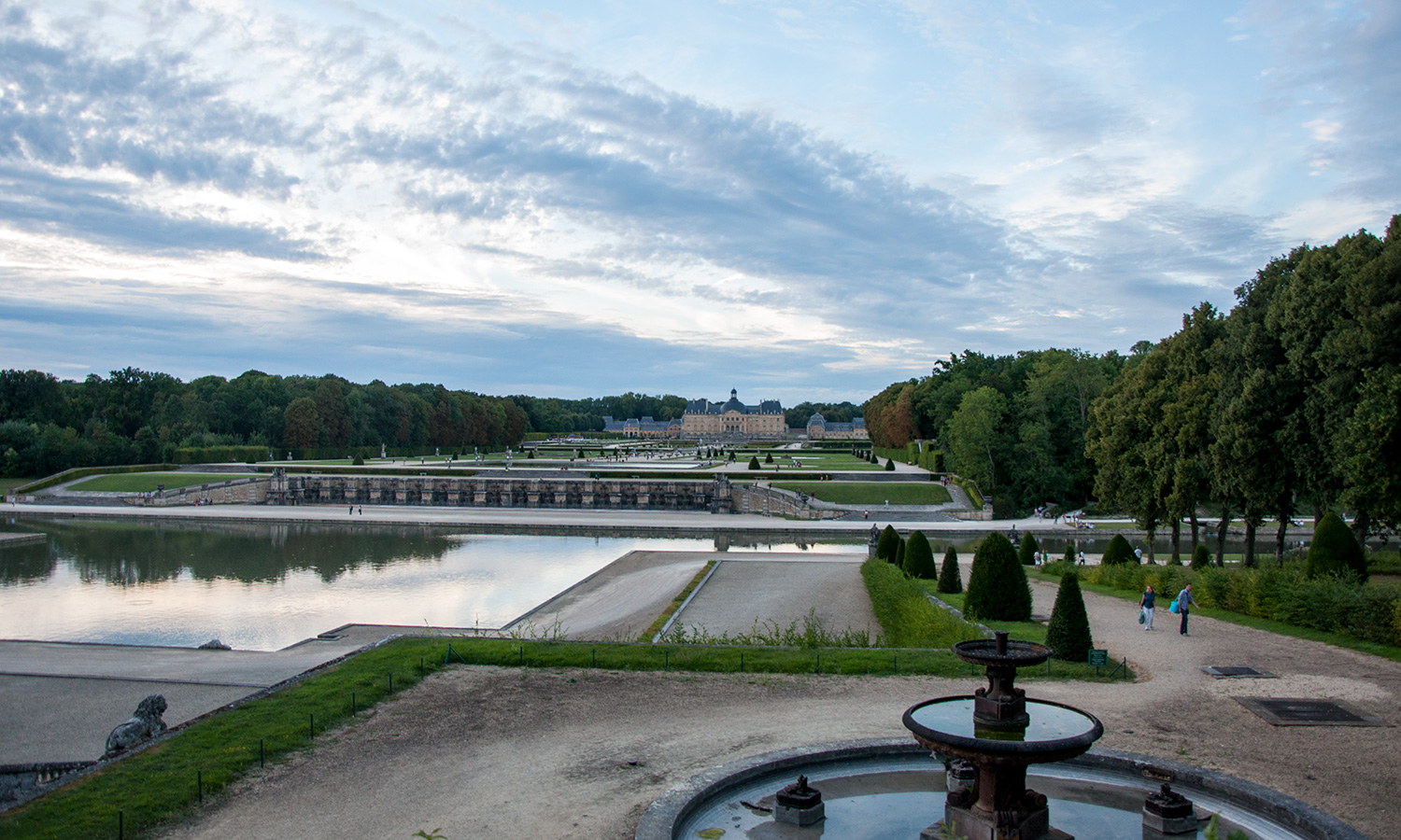 View from Hercules at Château de Vaux-le-Vicomte
