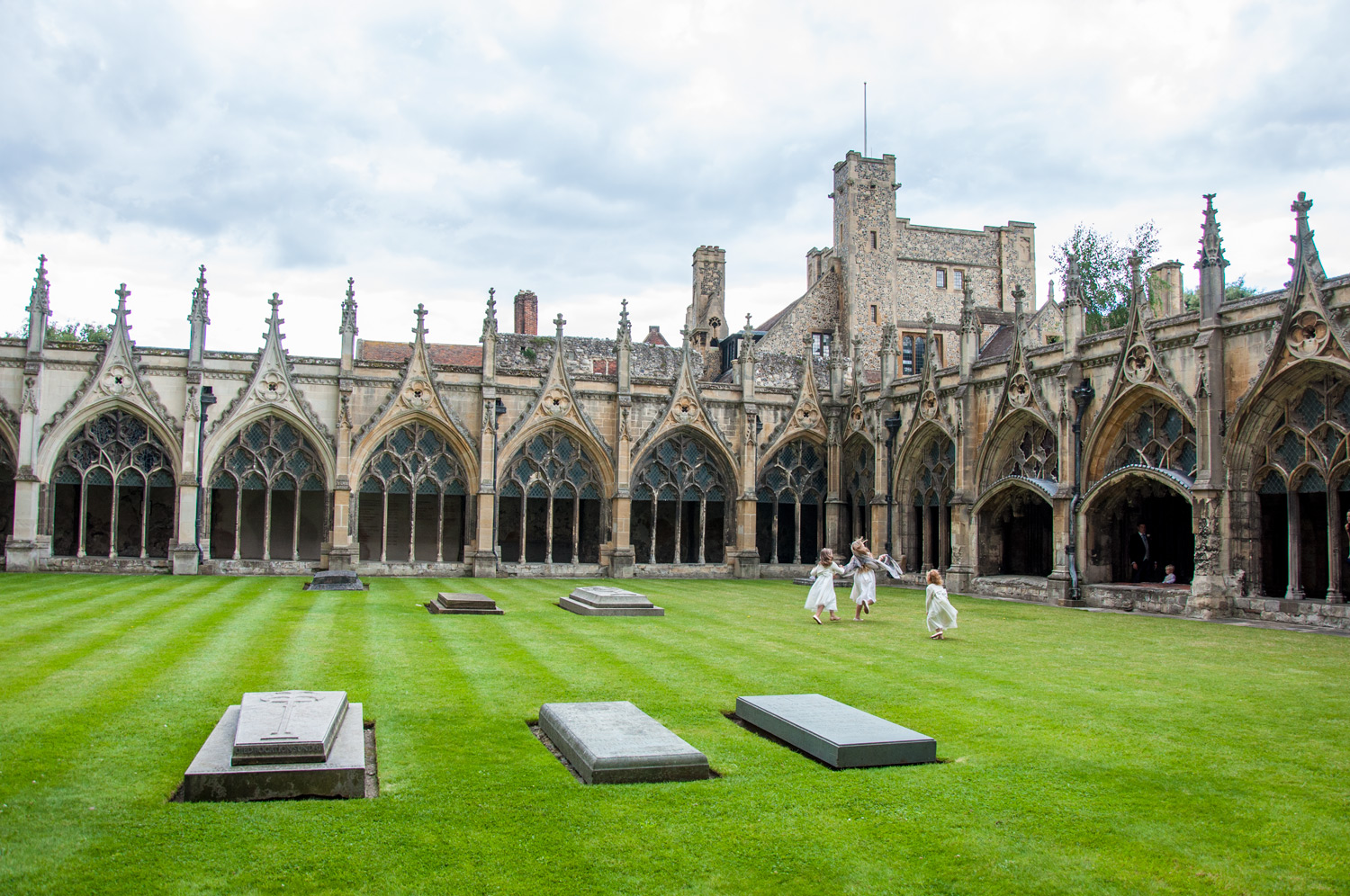 Canterbury Cathedral Courtyard