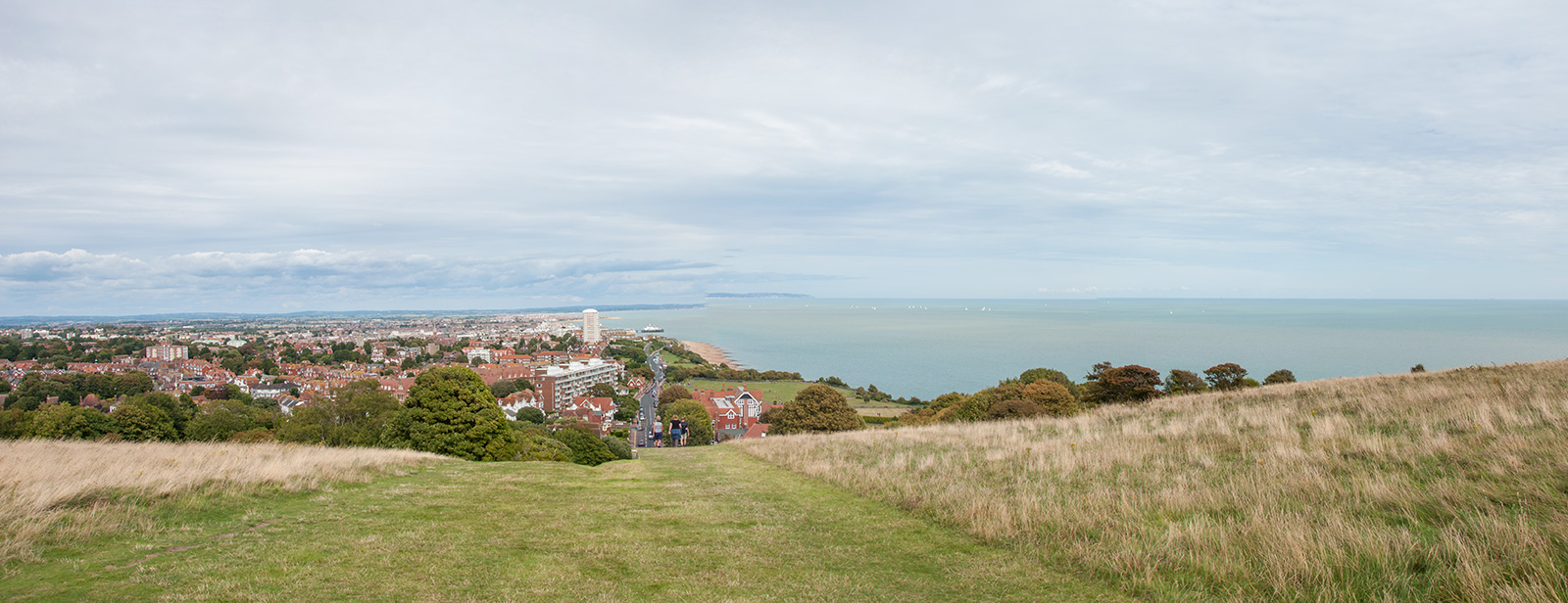Eastbourne from beginning of South Downs Way