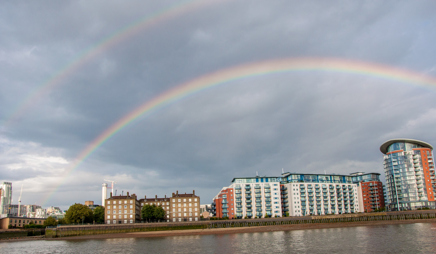 Rainbow from Thames River boat cruise