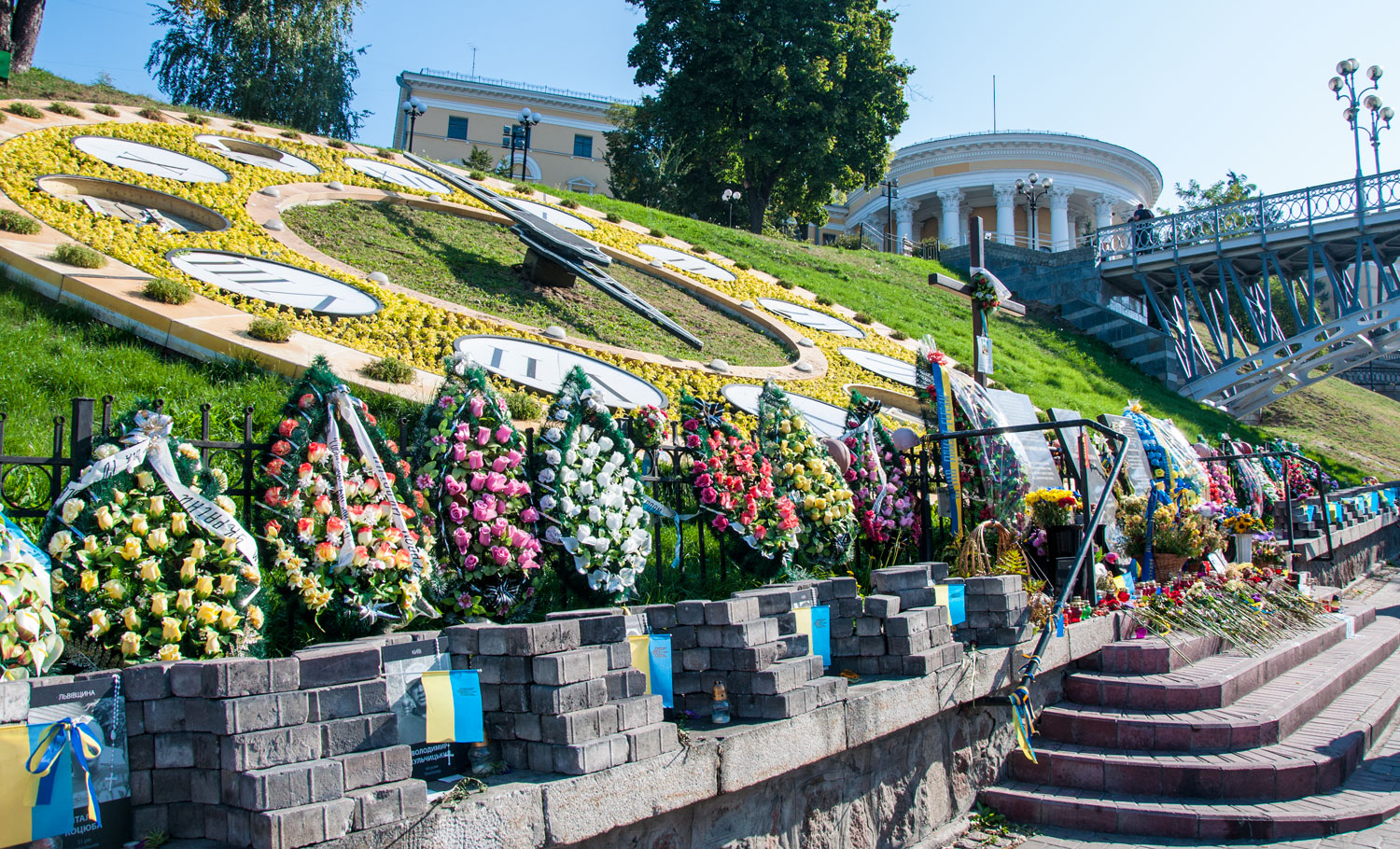 Memorials at Maidan flower clock
