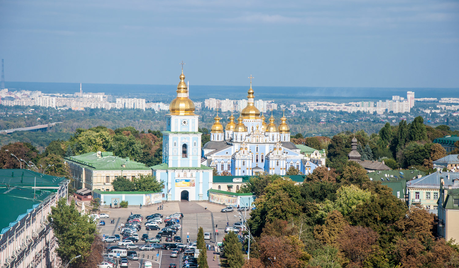 St. Michael's Golden-Domed Monastery from Saint Sophia's Cathedral's bell tower