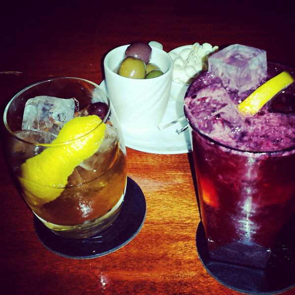 Old Fashioned & Blackberry Tom Collins