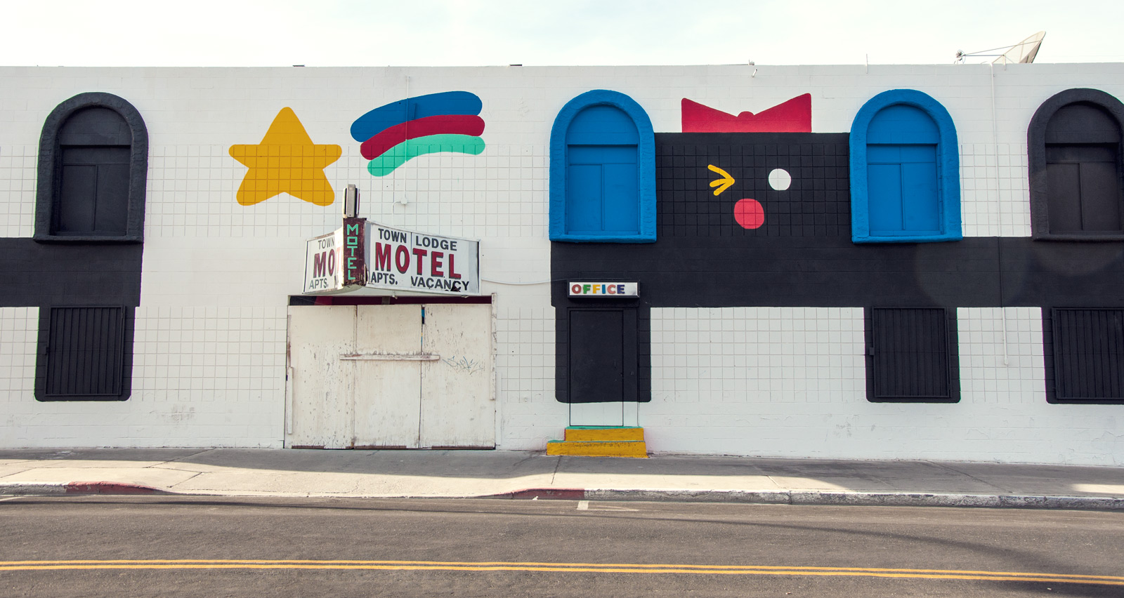 Downtown Las Vegas motel mural