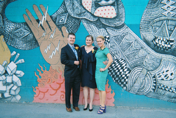 Wedding photos by Las Vegas murals