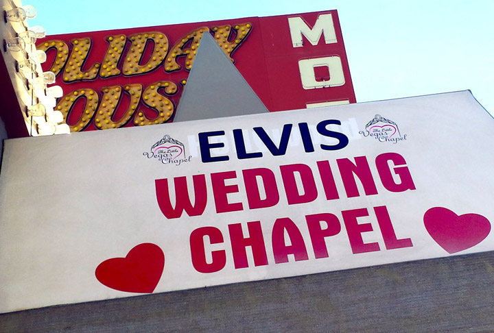 Las Vegas elopement at The Little Vegas Chapel