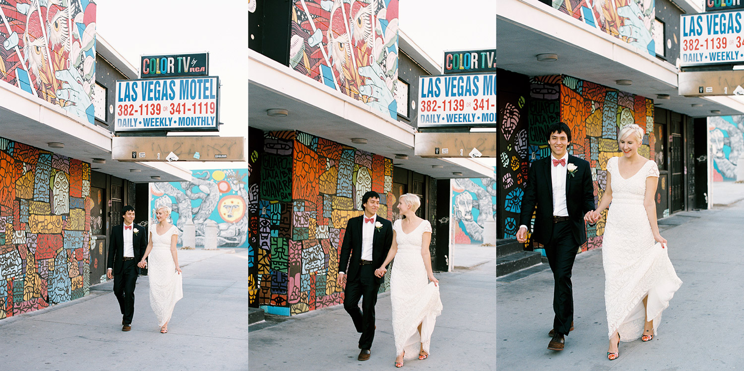 Las Vegas downtown wedding photos