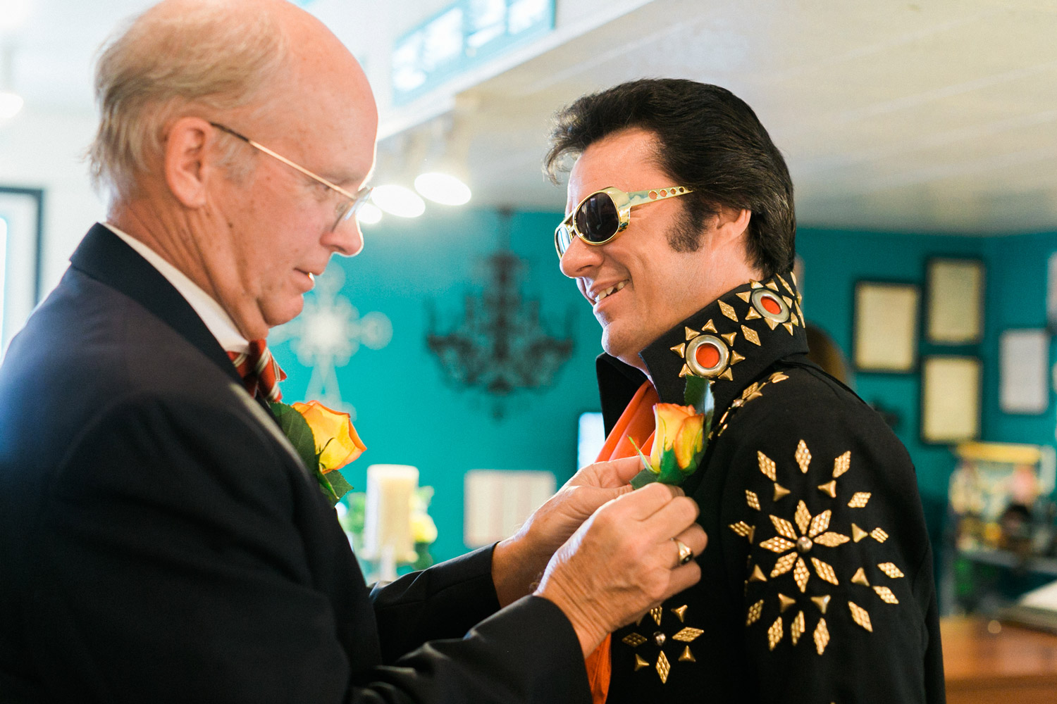 Giving Elvis a Boutonniere
