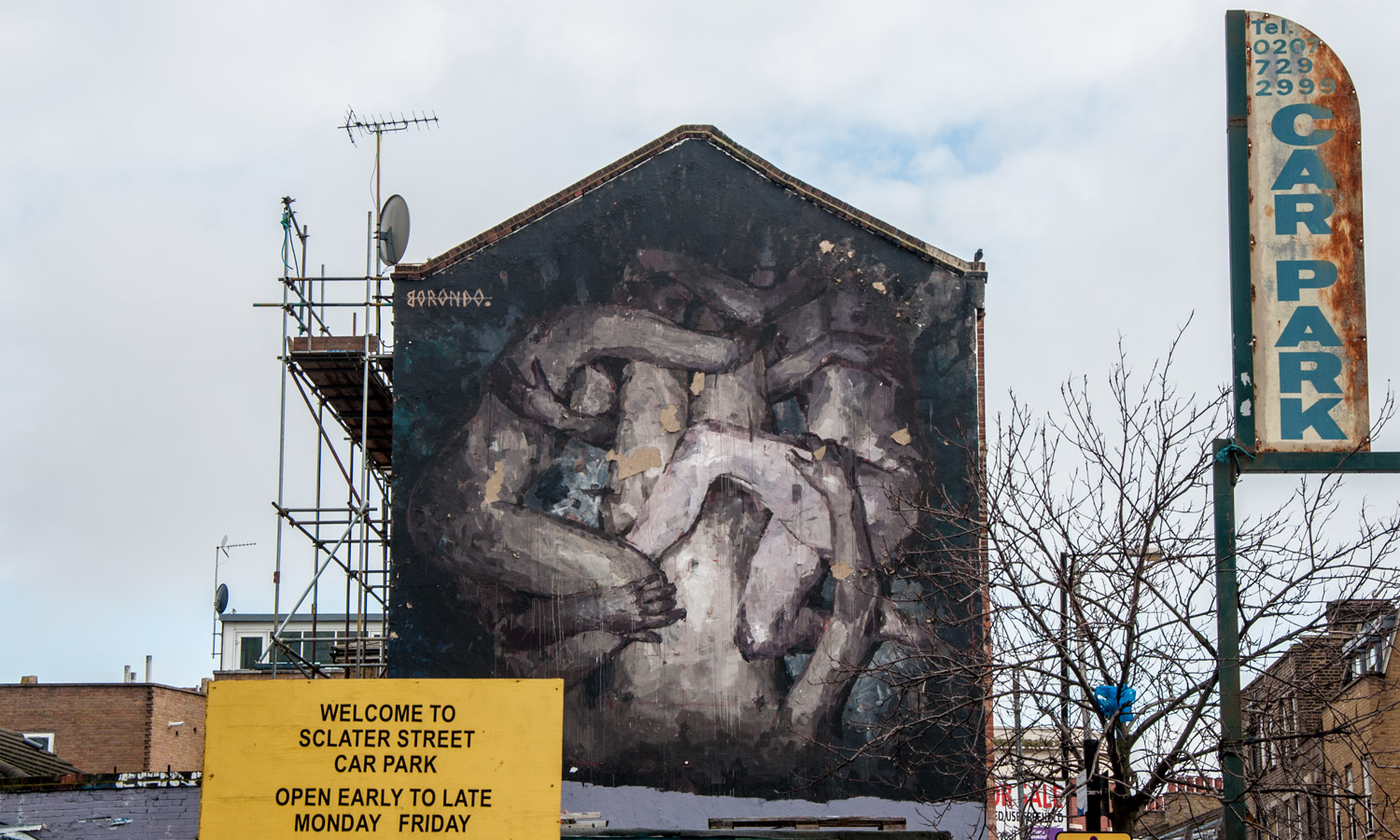 Triade by Borondo on Sclater Street