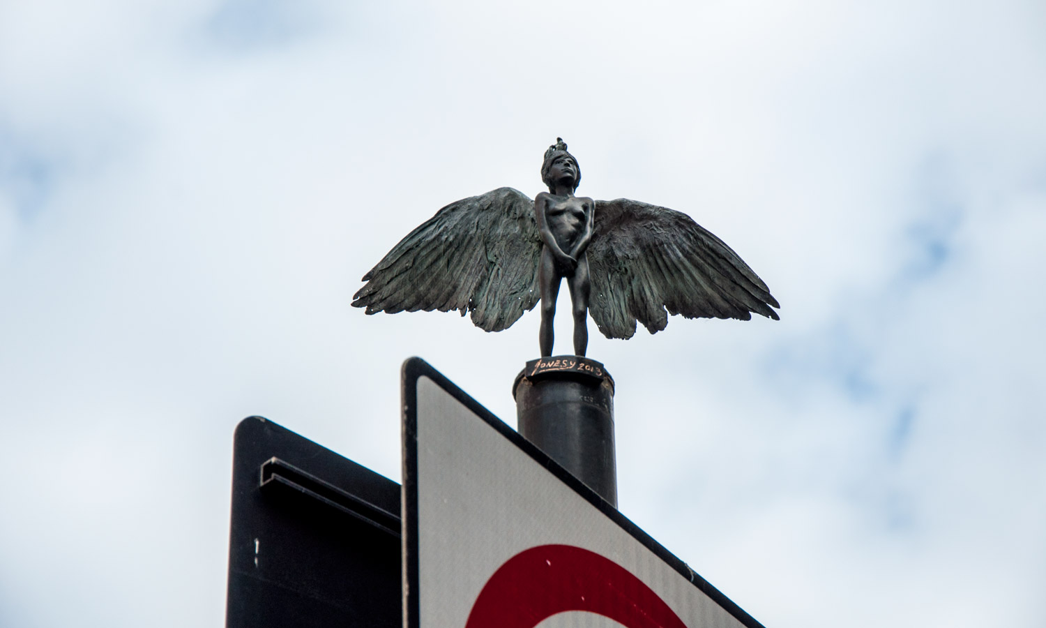 'Angel' sculpture by Jonesy