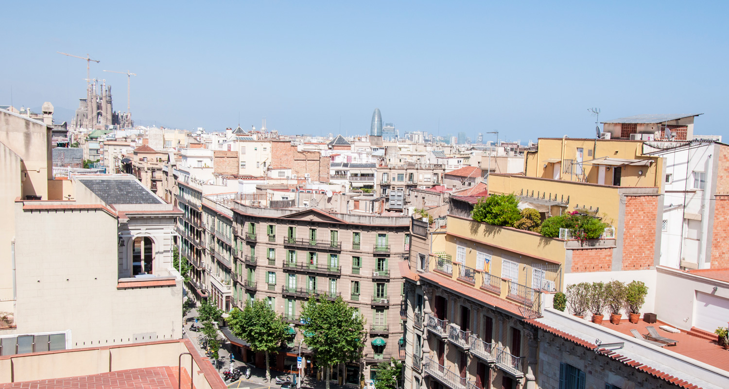 View of Barcelona and Sagrada Família