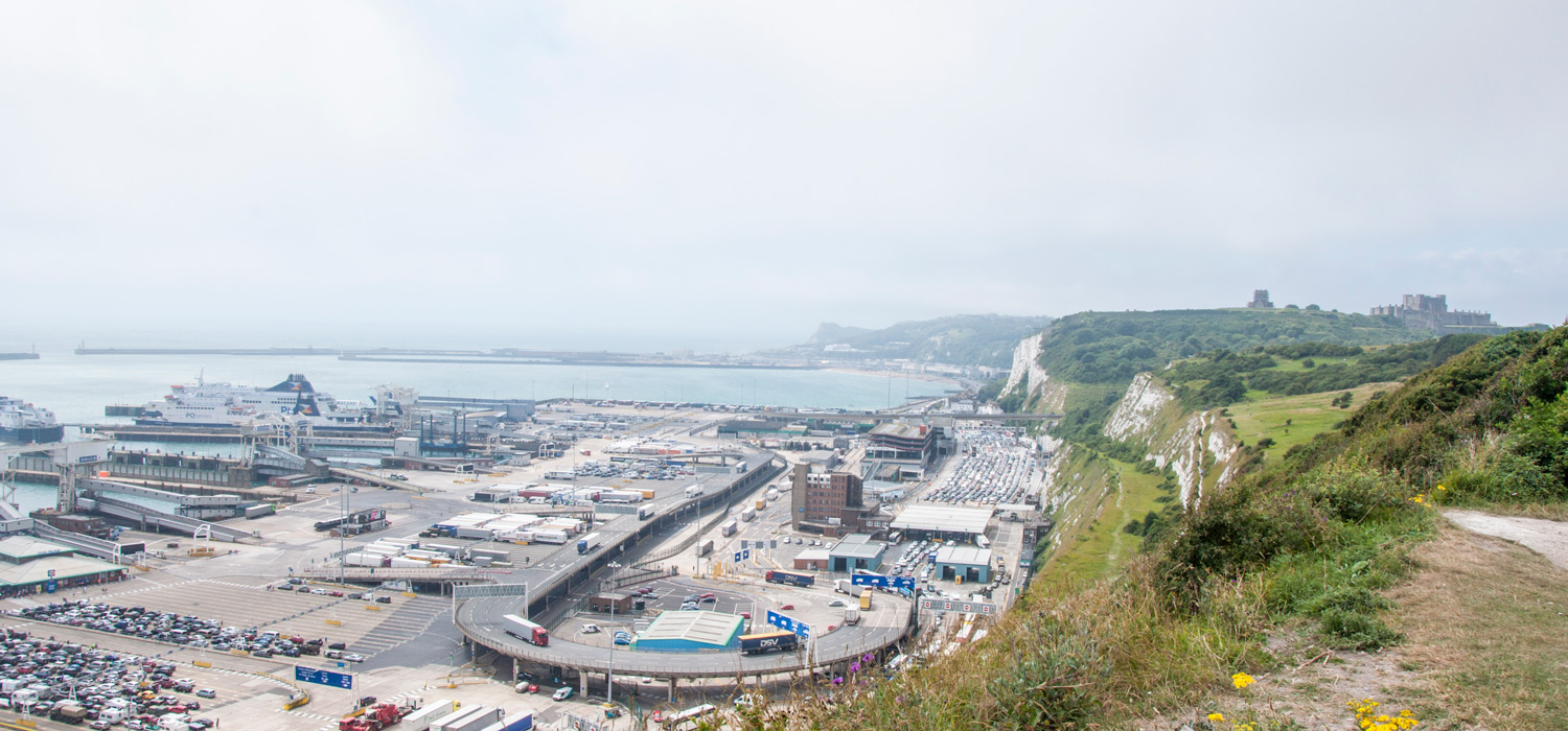 Port of Dover and Dover Castle on England day walk from London