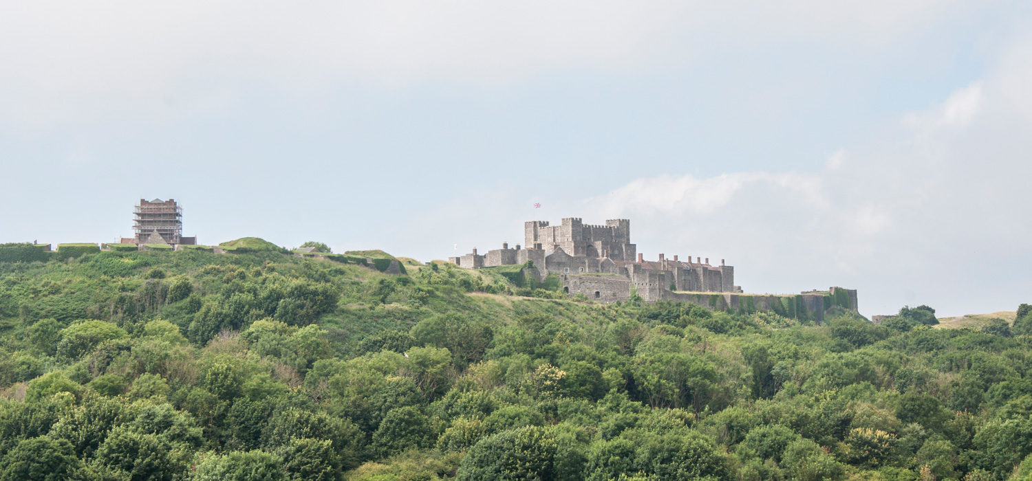 Dover Castle overlooking the English Channel