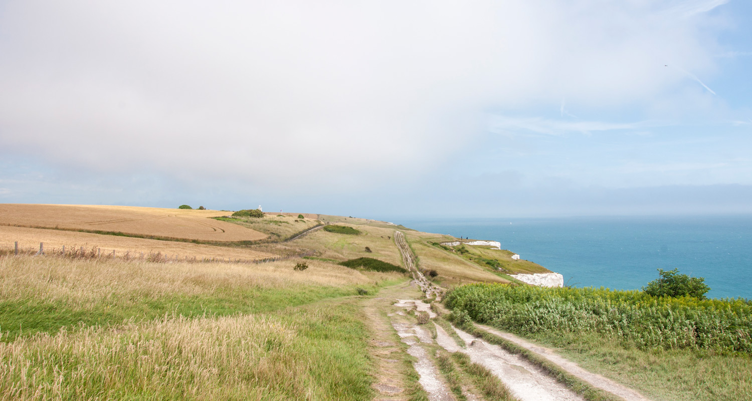 Walking northeast from Dover towards South Foreland Lighthouse