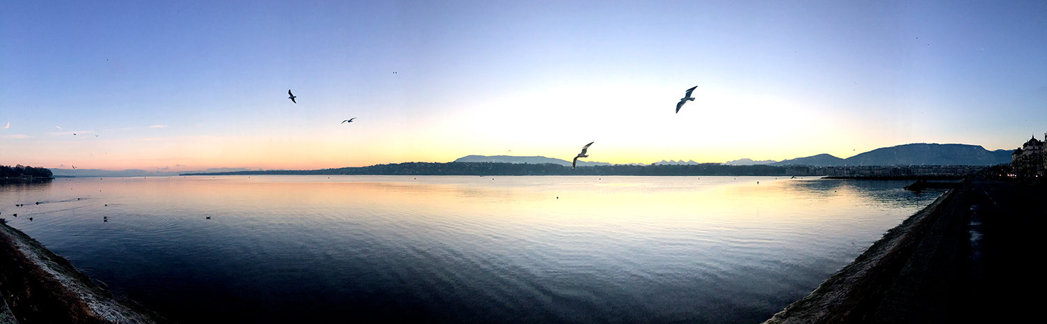 Sunrise on Lake Geneva
